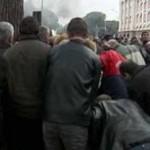 Policia dhe protestuesit përleshen në Tiranë