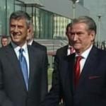 Berisha dhe Thaçi vizitë zyrtare në Shkup